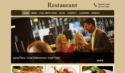 picture of premium wordpress theme Restaurant