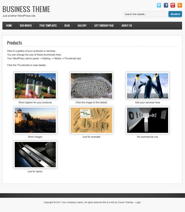 business-wordpress-theme-gallery