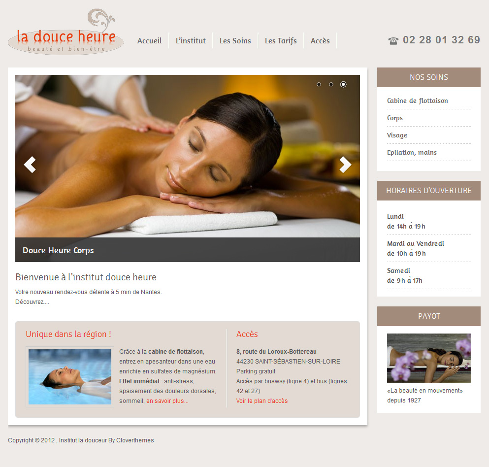 massage website template
