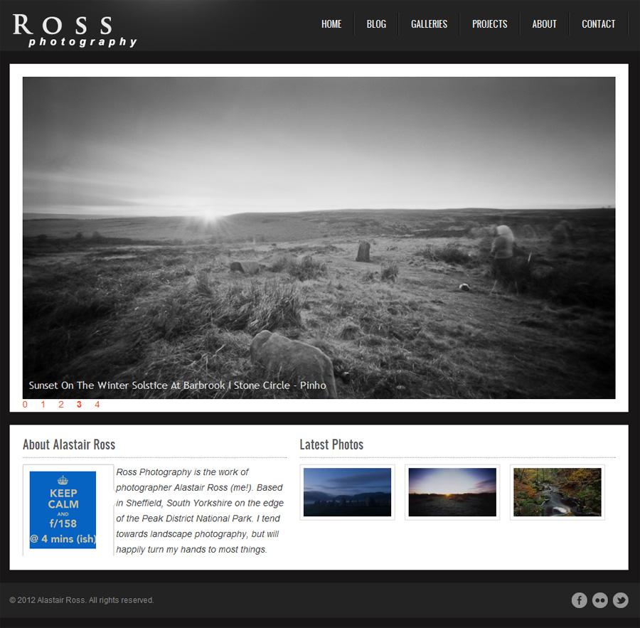 photography webstie template