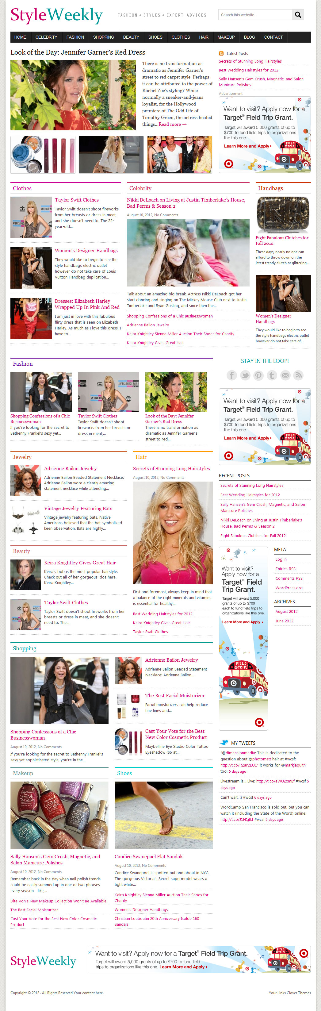 Fashion WordPress Magazine Theme: StyleWeekly