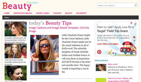 picture of premium wordpress theme Beauty Magazine