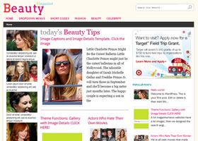 picture of Beauty Magazine premium wordpress theme