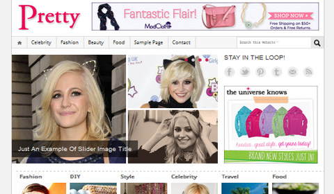 picture of premium wordpress theme Pretty